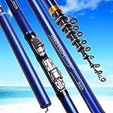 BMYONG Carbon-Faser-3.6M 4.5M 5.4M 6.3M Spinning Angelruten-M Power Teleskopfels Feederrute Surf...