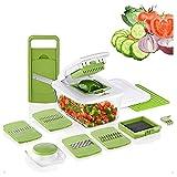 UNU_YAN Gemüseschneider, Multifunktionale Slicer Dicer Haushaltsküche Manual Julienne Reiber...