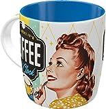 Nostalgic-Art Retro Kaffee-Becher - Say it 50's - Coffee O' Clock, Lustige große Retro Tasse mit...
