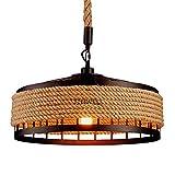 Hängelampe Vintage Seilampe Pendelleuchte Deckenleuchte E27 Retro Industrie Pendellampe Eisen Loft...