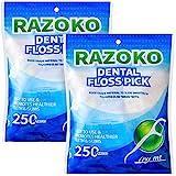 Zahnseide Sticks,500 Stück Einwegzahnseide Dental Floss Zahnpflege Interdental Flosser,Perfekt für...