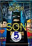 Geburtstagskarte für den Sohn zum 5. Geburtstag, Motiv: Batman Lego, Innenseite in voller Farbe