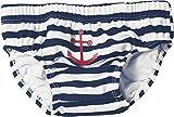 Playshoes - 460110 Jungen Schwimmwindel UV-Schutz Windelhose Maritim, Mehrfarbig (171 marine/weiß),...
