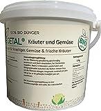BioVegetal 100% Bio-Dünger für knackiges Gemüse und frische Kräuter mit Guano und...