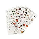 BLOUR 6 Stück/Los Molang Potato Rabbit Dekorative Aufkleber DIY Kindertagebuch Cartoon PVC...