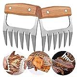 Opaceluuk Barbecue-Krallen für Pulled Pork, BBQ Fleischzerkleinerer, Grill Smoker Bär Fleisch...