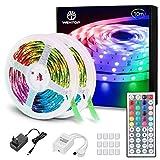 WenTop Led Strip 10m, LED Band mit IR Fernbedienung, SMD 5050 RGB LED Streifen, für Schlafzimmer,...