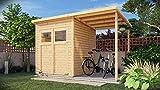 Alpholz Gerätehaus Mollie Plus aus Fichten-Holz | Gartenhaus mit 14mm Wandstärke | Holzhaus...