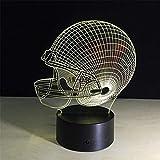 American Football Helm Sport Caps Star 3D Lampe Team Logo gemacht mehrfarbige Lava LED Beleuchtung...