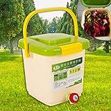 sujrtuj 9L Schnellkomposter Kompostbehälter Küchenkomposter Starterset