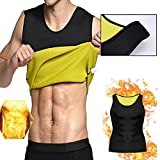 QQA Männer Neopren Sauna Weste Abnehmen Muskelshirt Korsett Gewichtsverlust Atmungsaktiv...