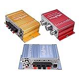 Gcroet 1 Pack Mini Audio Verstärker Super Bass Out HiFi Stereo Audio Leistungsverstärker für Auto...