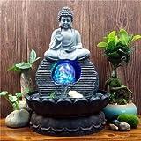 SPYXGS Südostasiatische Buddha-Statuen Wasserbrunnen Wohnzimmer Luftbefeuchter Desktop Feng Shui...