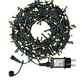 Lichterkette Weihnachtsbaum, LED Lichterkette mit 300 LED in warm weiß, 8 Leuchtmodi Dimmbar, EU...