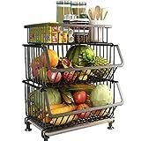 YYSYN Hängekörbe für die Küche zur Aufbewahrung von Obst und Gemüse mit Haken, Drahtkorb für...