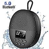 AGPTEK Bluetooth 5.0 Lautsprecher, Ttragbare Musikbox mit LED-Bildschirm, eingebautem Mikrofon,...