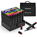 TongfuShop 80 Farbige Marker Set, Graffiti Pens, Marker Stift Set Doppelspitze Textmarker, für...
