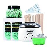 Wachswärmer Set mit Wachs Bean Wachsstift Sieben-In-One tragbare Haarentfernung festes Wachs Bean...