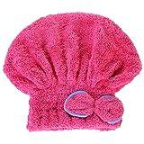 OneMoreT Haar-Hut, 6 Farben, Mikrofaser, schnelltrocknend, für Damen, Mädchen, Damen, Bademütze,...