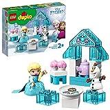 LEGO 10920 DUPLO Princess Frozen II Elsas und Olafs EIS-Café Spielset mit großen Steinen, Cupcakes...
