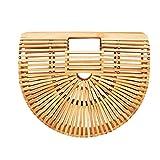 Zorxu Handtasche aus Bambus, handgemacht, für Damen, natürliche Korbtasche für den Sommer,...