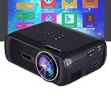 EJOYDUTY Mini-Projektor mit Fernbedienung, 1800 Lux, Full HD-Videoprojektor, Unterstützte 1080P-,...