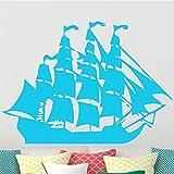 Tianpengyuanshuai Kinder Cartoon Piratenschiff Segeln Wandaufkleber Schlafzimmer Junge entfernbare...