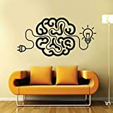 SLQUIET anpassbare Laden Sie das Gehirn Art Decal Idee Motivations Büro Vinyl Aufkleber mit Birne...