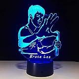 Bruce Lee Kung Fu Beleuchtung für Küchenunterschränke 3D Lampe Nachtlicht 3D LED Tischlampe...
