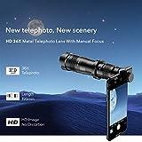 MaiTian 36x Telefon Kamera Telephoto, Zoom Objektiv Hd, Monokular Teleskop, Objektiv Selfietripod...