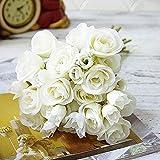 Moonvvin 18 Köpfe Künstlich Rosen Falsche Blumen Bukett Heimbüro Hochzeitsdekoration