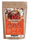 Hagebuttenpulver 1kg naturrein glutenfrei Rohkost-Qualität - Hagebuttenfrüchte gemahlen ohne...