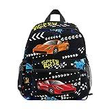 Speed Racer Schulrucksack mit buntem Auto, Segeltuch-Rucksack, große Kapazität, lässiger Reise,...