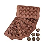 Pralinenform Silikon Backform Schokoladenform 6er Set, Silikonform Mini Antihaft Backformen für...
