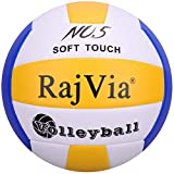 Rajvia Beachvolleyball Soft Touch Volleyball offizieller Größe 5, Volley Ball für...