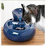Yxp Pet Wasserbrunnen Keramik Katze Trinkbrunnen Flüsterleises Pet automatische Aktivkohle...