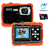 Unterwasser Kamera für Kinder,12MP HD Wasserdichte Digitalkamera,Mini Action Camcorder...