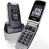 Großtasten Mobiltelefon, Seniorenhandy MB 100 Graphit, Klapphandy u.a. mit Kamera, Notruftaste,...