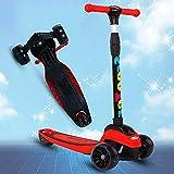 ZXH Scooter für Kinder, Stunt Scooter, Stütze 176,37Lbs, Pedalbremse Hinten, LED-Licht-Up-Räder,...