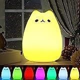 Nachtlicht Kind , omitium Silikon LED Nachttischlampe mit 7 Beleuchtung Touch USB-Ladeoption...