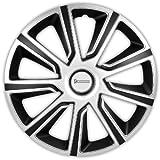 Michelin 92015 Louise, Silber/Schwarz, 16' Zoll. (4 x Universal Radzierblenden/Radkappen)