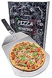 Momex Pizzaschieber für den Grill & Ofen, Pizzaschaufel mit praktischen Einklapp-Griff zum...