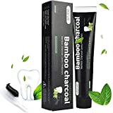 Ealicere Aktivkohle Zahnpasta-Natürliche Zahnaufhellung und Zahnreinigung -Bambuskohle Schwarze...