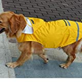Jiuyizhe Regenmantel für Hunde, 3 Farben, 3 Größen, Polyester, gelb, XXXX-Large