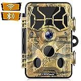 Campark WiFi Wildkamera 20MP 1296P Upgrade Bluetooth, WLAN mit Bewegungsmelder Nachtsicht Wildlife...