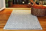 Kamaca Outdoor Teppich Raute für Terrasse Balkon Camping Garten - 90 x 150 cm - pflegeleicht robust...