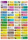 Sunnywall Namensaufkleber Namen Sticker Aufkleber Sticker 4,8x1,6cm | 60 Stck fr Kinder Schule und...