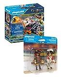 Playmobil Piraten-Set: 70415 Pirat mit Kanone + 70273 Piratenkapitän und Rotrock