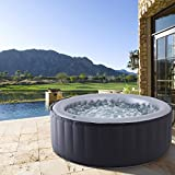 BRAST Whirlpool MSpa aufblasbar für 4 Personen SPA Ø180x70cm In-Outdoor Pool 118 Massagedüsen...