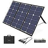 VITCOCO Solar Ladegerät 63W Solarpanel Tragbares 3-USB Ports & 1 DC Port für Powerstation Kamera...
